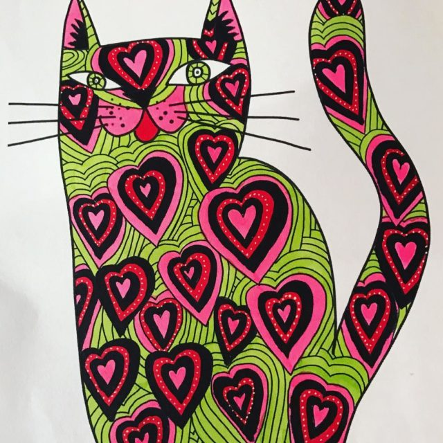 Kittys cat colouring book kittyscatcolouringbook kittyblake colouringbook cats catcolouringbook adultcoloringbookhellip