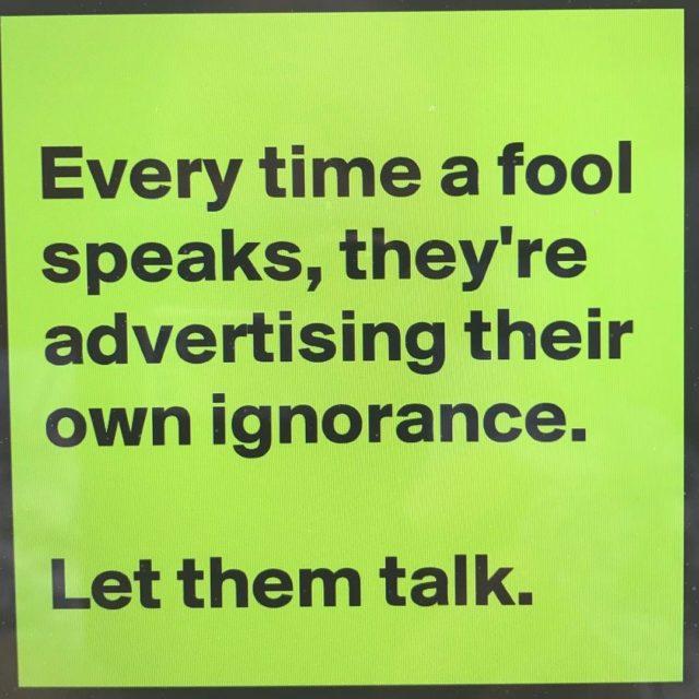 Sassy quote ignorance sassyquotes sassyquote quoteoftheday quotes fool funnyquotes cheekyhellip