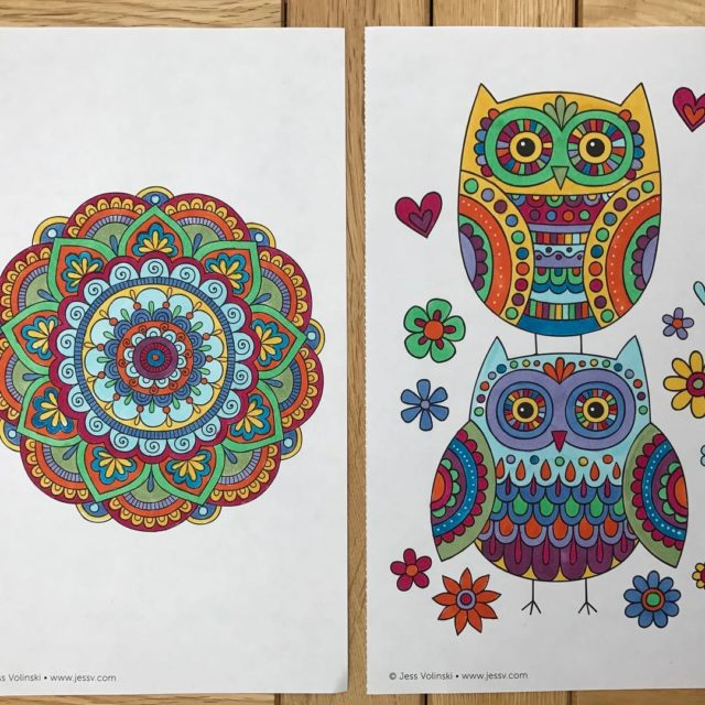 Color cute colouring pages coloringbook aspiretocreatecrafts colouringpages owl mandala copicsketchmarkershellip