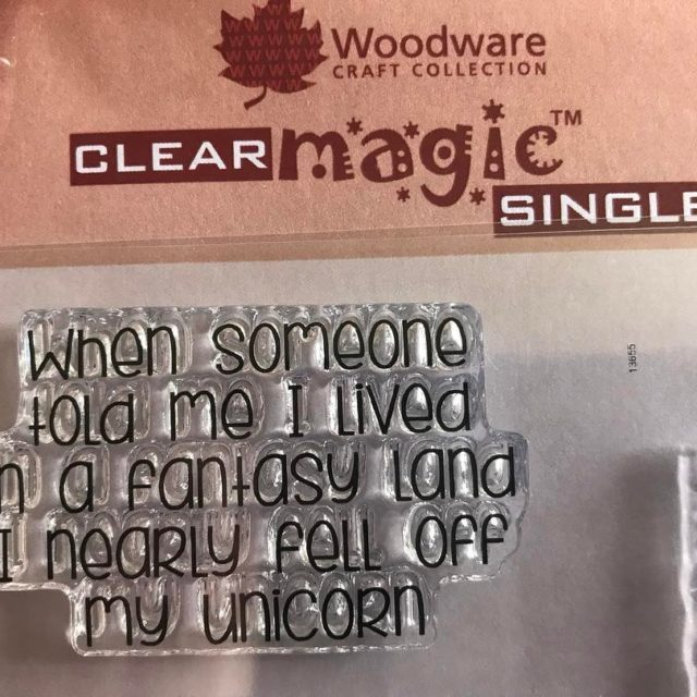 Cant wait to use this stamp woodwarestamps funnystamp unicorn