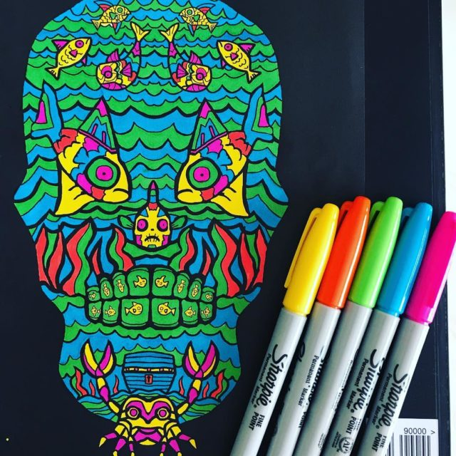 Day of the dead sugar skulls2 nikiturner projectcreativeorg nonprofitorganization adultcoloringbookhellip